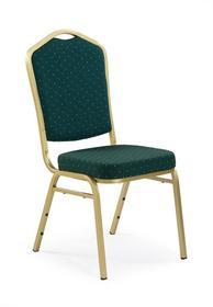 Krzesło K-66 zielony/złoty tkanina/stal Halmar