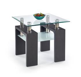 Ława diana h kwadrat 60x60 wenge szkło/mdf halmar