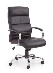 Fotel obrotowy Teksas czarny skóra/pvc Halmar