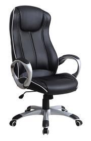 Fotel obrotowy Taurus czarny eco skóra Halmar