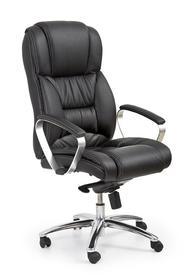 Fotel obrotowy Foster czarna skóra/pvc Halmar