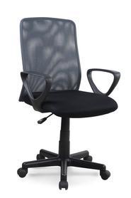 Fotel obrotowy Alex czarny/popiel tkanina membranowa/siatka Halmar