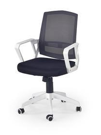Fotel obrotowy Ascot czarny/popiel/biały tkanina membranowa/siatka Halmar