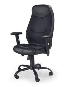 Fotel obrotowy Georg czarny eco skóra/tkanina membranowa Halmar