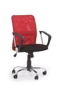 Fotel obrotowy tony czerwona tkanina/siatka halmar