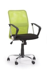 Fotel obrotowy tony zielona tkanina/siatka halmar