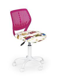 Fotel obrotowy bali różowy halmar