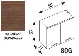 Szafka g80 kuchnia amanda 1 260 dąb santana