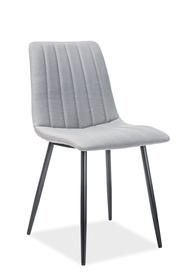 Krzesło Alan szary/czerń tkanina/metal signal