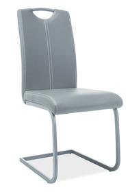 Krzesło na płozach h-148 szary eco skóra/metal signal