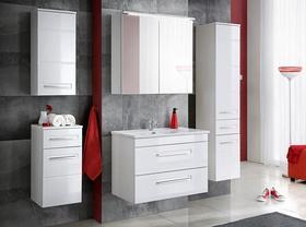 Meble łazienkowe z umywalką 60 cm Active biały mat/biały połysk + LED