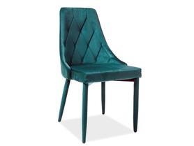 Krzesło Trix zielony velvet/zielony metal signal