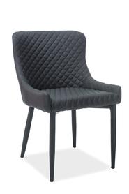 Krzesło Colin czarna tkanina/metal signal