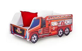 Fire truck łóżko wielobarwne halmar