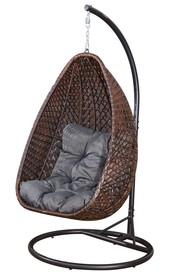 Kokon / huśtawka / fotel wiszący Marrone technorattan brąz