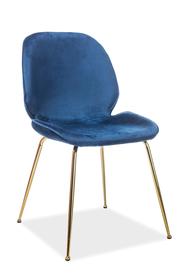 Krzesło Adrien granat velvet/złoto metal signal