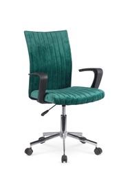 Fotel młodzieżowy Doral ciemny zielony tkanina velvet Halmar