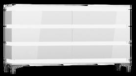 Komoda Zebra 160 cm biały połysk
