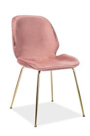 Krzesło Adrien antyczny róż velvet/złoto metal signal