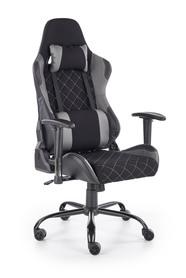 Fotel gabinetowy Drake czarny/popiel tkanina Halmar