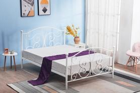 Łóżko sypialniane Panama 120x200 biała stal Halmar