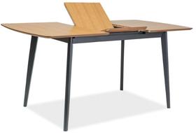 Rozkładany stół Vitro II 120(160)x80 dąb/grafit mdf/okleina/drewno Signal