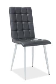 Krzesło otto czerń/biel eco skóra/metal signal