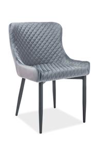 Krzesło Colin B szary velvet/czarny metal signal