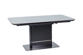 Rozkładany stół Pallas ceramic 160(210)x90 szary marmur/czerń mdf/ceremika/stal Signal