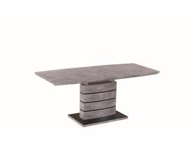 Rozkładany stół Leonardo 140(180)x80 efekt betonu mdf/szkło Signal