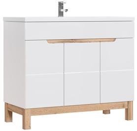 Szafka łazienkowa z umywalką 100 cm Bali white 825 biel alpejska / wotan
