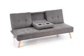 Sofa Bacon tkanina popiel/drewno + USB halmar