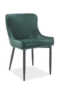 Krzesło Colin B zielony velvet/czarny metal signal