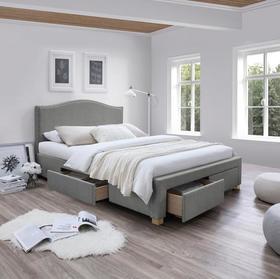 Łóżko celine 160x200 szary/dąb tkanina signal