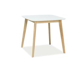 Stół Mosso III 80x80 biały/dąb mdf/drewno Signal
