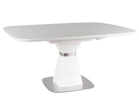 Rozkładany stół Saturn 120(160)x120 biały mdf/szkło/stal Signal