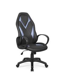 Fotel gabinetowy Coyot czarny/niebieski eco skóra Halmar
