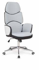 Fotel gabinetowy Baron czarny/biały/jasny popiel tkanina/polipropylen Halmar