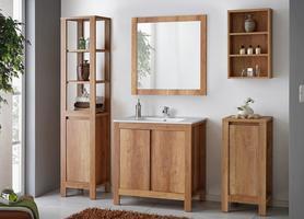 Meble łazienkowe z umywalką 80 cm Classic dąb romański