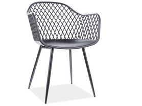 Krzesło Corral B czarne tworzywo polipropylen/czarny metal signal