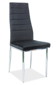 Krzesło H-261 czarny velvet/chrom signal