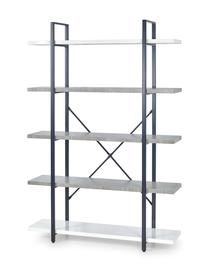 Regał stonno reg-2 mdf/stal biały/beton halmar