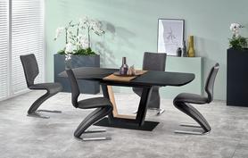 Rozkładany stół Farrel 160(200)x90 czarny/orzech mdf/stal Halmar
