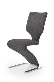 Krzesło K-307 czarny/ciemny popiel eco skóra/tkanina Halmar