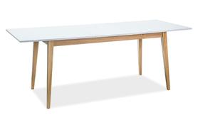 Rozkładany stół Cesar 120(165)x68 biały mat/dąb plyta laminowana/drewno Signal