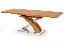 Stół rozkładany sandor 160(220)x90 dąb złoty/mdf/stal halmar