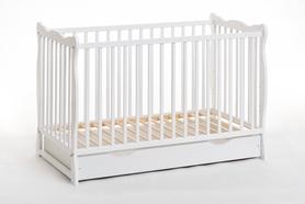 Łóżeczko dziecięce sosnowe Ala Plus 60 x 120 z materacem i z szufladą