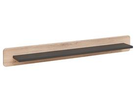 Półka wisząca Round antracyt/dąb kronberg mat