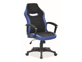 Fotel obrotowy Camaro czarny/niebieski tkanina Signal
