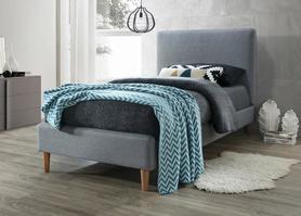 Łóżko acoma 90x200 szary/dąb tkanina signal